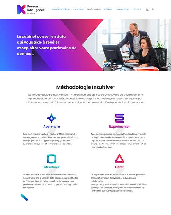 Site web Kereon Intelligence réalisé avec Wordpress